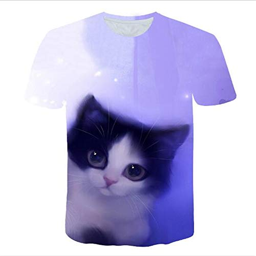 3D Print Weste Herren Tank Top Fitness Ärmelloses Shirt Herren Bekleidung Sportswear Unterhemd Sommer,Drucken Sie süßes Haustier A lila 5XL
