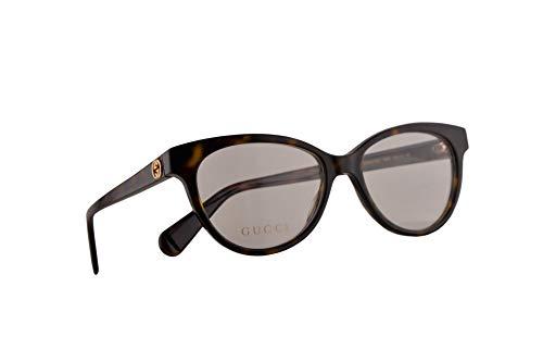 Gucci GG0373O Brillen 52-16-140 Havana Braun Mit Demonstrationsgläsern 002 GG 0373O