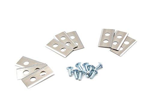 vhbw 9x 0.75mm Ersatz Wechsel Klinge Messer für Rasenmäher Roboter Worx Landroid Mähroboter S500i, WA0176, WA0190, L1500i, M1000i, M500, M800 u.a.