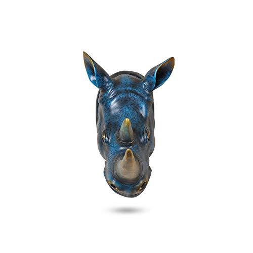 Sinzong Skulpturen Statuen Home Statue Dekoration Zubehör Abstrakt Rhino Head Skulptur Hochzeit Chrismas Wall Decor Handmade Resin Art Craft Artware