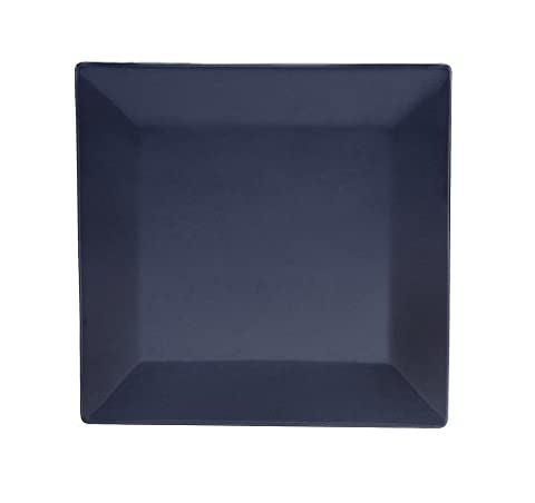 CAC China KC-8-CBU Color Arts 8-Inch Stoneware Square Plate, Cobalt