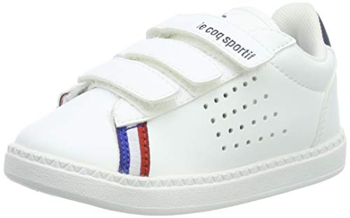 le coq Sportif Unisex-Kinder COURTSTAR INF Sport BBR dr Sneaker, Weiß (Optical White/Dress Blue Optical White/Dress Blue), 21 EU