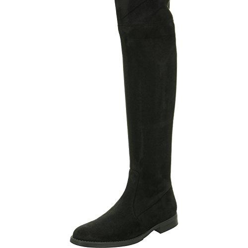 Buffalo London 2870 Micro Strech, Stivali Donna Nero (Black 01)