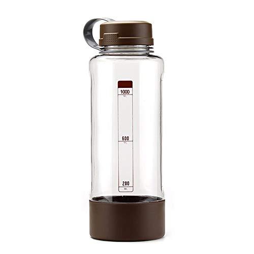 TXTTXT Isolierende Tasse Kunststoff Gürtel Filter Große Kapazität Tragbare Outdoor-Reisen Sportflasche 1000 ml Braun Thermosflaschen