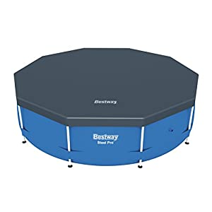 Bestway BW58036 10 feet Steel Frame Swimming Pool Cover – Blue