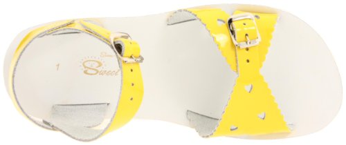 Salt Water Sandals by Hoy Shoe Sweetheart,Shiny Yellow,10 M US Toddler