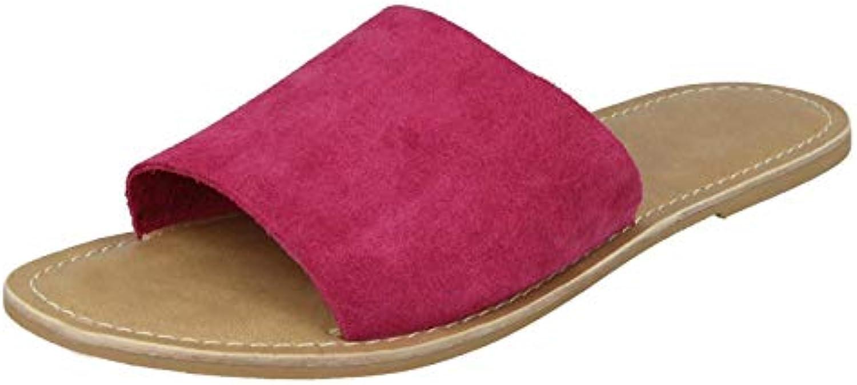 les sandales de cuir flat b07bl3q1hq parent collecte mesdames flat cuir mule ae4ef8