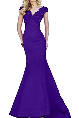 Toscana sposa Glamour Rosso Pizzo Prom abiti lungo sirena sera abiti da festa abiti Viola