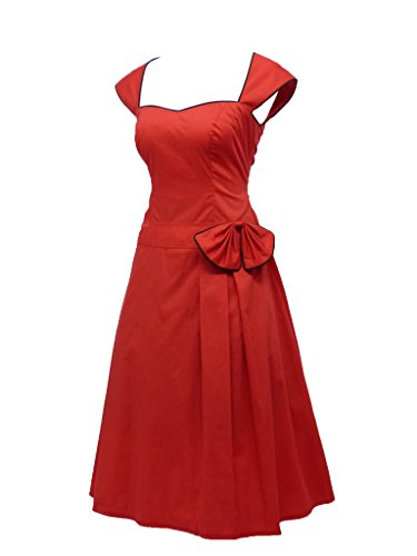 dress190 Damen Kleid Rot - Rot