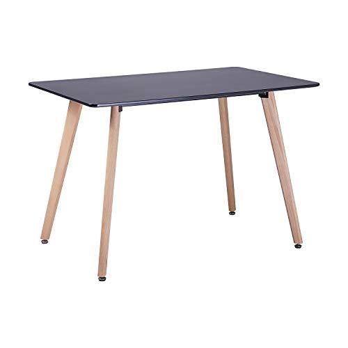 H.J WeDoo Scandinave Design Table à Manger Rectangulaire Table de Cuisine avec Pieds en d'épingle à Cheveux 120 * 80 * 75 cm - Blanc