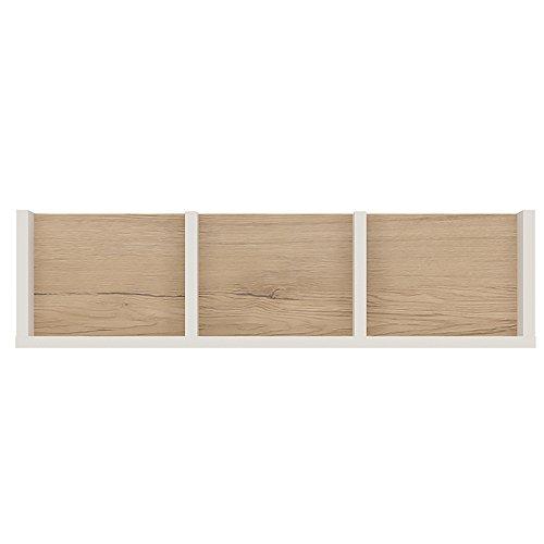 Möbel to go Unterteilte Wandregal, Holz, Weiß glänzend, 70cm -
