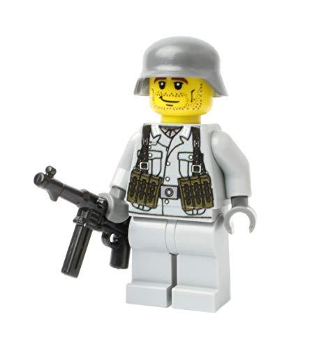 WW2 WWII Custom Soldado Alemán con BrickArms MP40