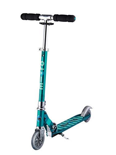 Micro Mobility - Trottinette Sprite Bleu Pétrole - Trottinette Enfant compacte et Pliable - Apprentissage de l'équilibre - À partir de 6 Ans
