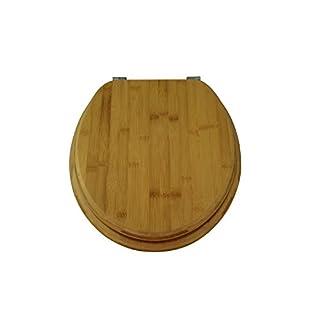 WC Sitz BAMBUS, Vollholz mit Edelstahlscharnieren, EDBA02