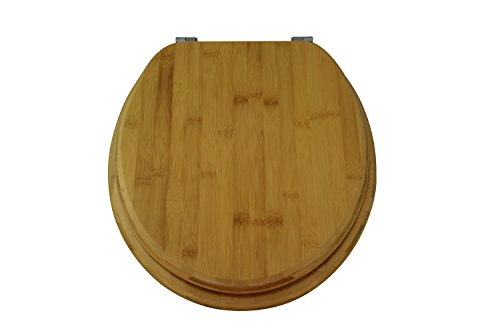 EISL EDBA02 Asiento para inodoro de bambú oscuro