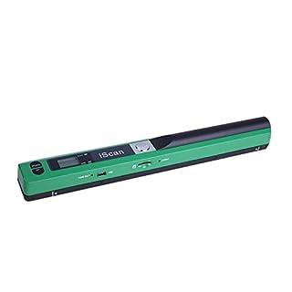 Symboat Scanner, Format für Anzeige, Format JPG, PDF-Anzeige, mit Flüssigkristallen, 900 DPI, mobiler Scanner, Dokumentenscanner, Mobiler Scanner grün