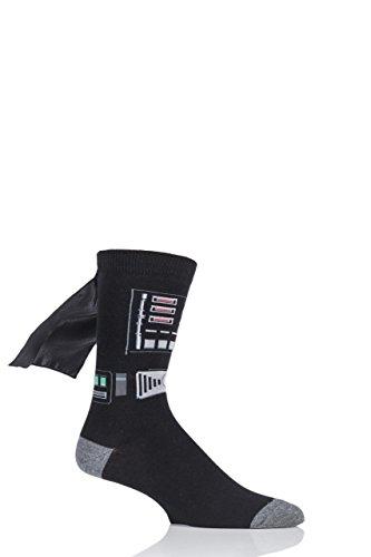 SockShop Mens 1 Pair Disney Star Wars Darth Vader Cape Socks