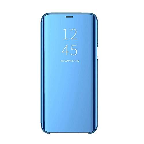 Samsung Galaxy Note 9 Hülle,Note 9 Hülle Clear View Überzug Spiegel Schutzhülle Case Flip Handyhülle mit Standfunktion Ultra Dünn PC Hart Zurück für (Samsung Galaxy Note 9, 2)
