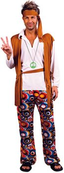 Hippy Man Budget costume Adult Fancy Dress