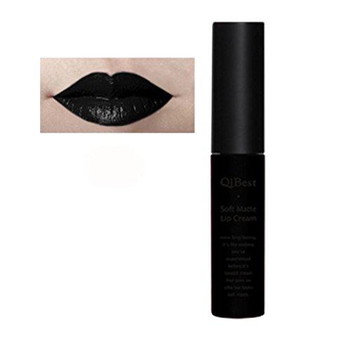 ¡ Venta caliente!Impermeable lápiz labial, Internet brillo labial de larga duración líquido mate (Negro(30))
