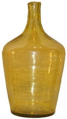 Glass Vase, Yellow, regular