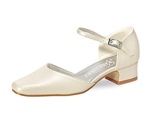 Comunhão Alegria Meninas white Sapatos Branco Do Caçoa Calçados íris Off Para Arco Cremoso qAx0wt1