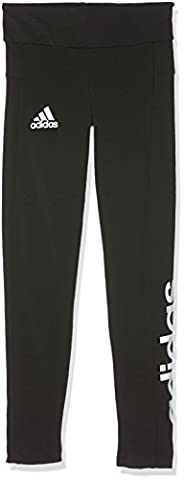 Adidas - YG Linear Tight Collant pour filles - Noir (Black/White) - FR: 11-12 ans (Taille Fabricant:
