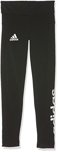 (adidas Mädchen Linear Leggings, Black/White, 140)