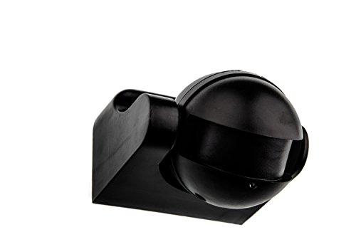 HUBER MOTION 60HF, Bewegungsmelder 180°, schwarz, vertikal einstellbar, hochsensibel durch Radar-Technik (Bar Füße Led-licht)