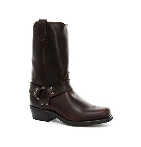 Bottes hautes unisexe cuir véritable noir ou marron style biker rock cowboy renegade