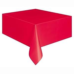 Unique Party - 5094 - Nappe en Plastique - 2,74 x 1,37 m - Rouge