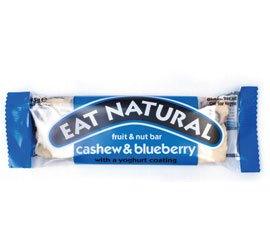 Eat Natural with Blueberries, Cashews and a Yoghurt Coating 45 g (Pack of 12)