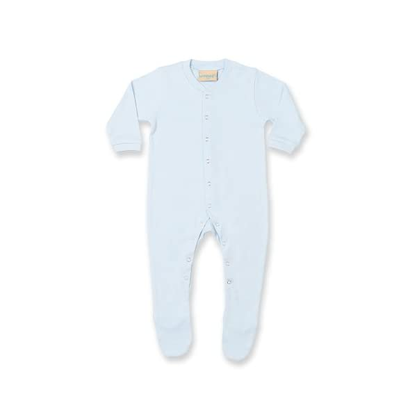 Larkwood - Pijama de manga larga liso unisex para bebé (Recién Nacido/Azul) 2