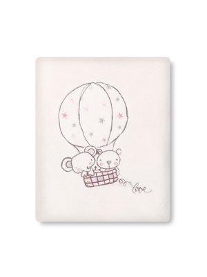 pirulos 85311614–Decke microlina 120x 155, Form Globe, weiß und rosa
