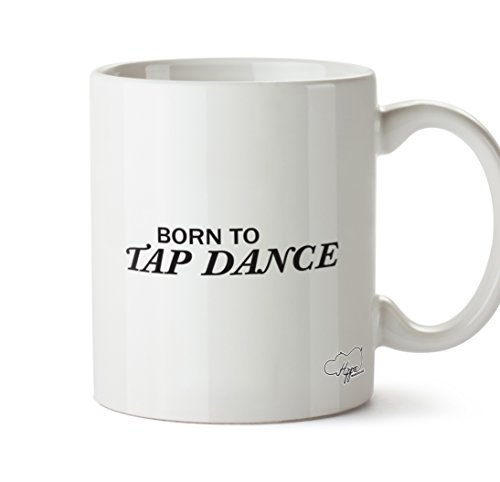 hippowarehouse Born to Tippen Dance 283,5Tasse, keramik, weiß, One Size (10oz) Grapevine Geschirr