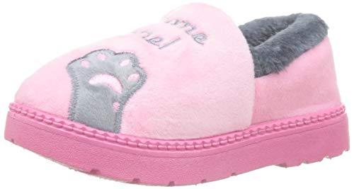 Zapatillas de Estar por casa Gato para niña niño Pantuflas Invierno Interior Suave Casa Caliente Zapatos Antideslizantes Peluche de Animales EU 24.5 / CN 26