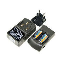 Li-Ion-Ladegerät CR-V123 inkl. zwei 3V Akku CR123A Akkus