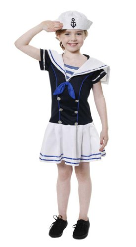 Sailor Girl Kostüm 7-9 (Kinder Kostüme Sailor Für)