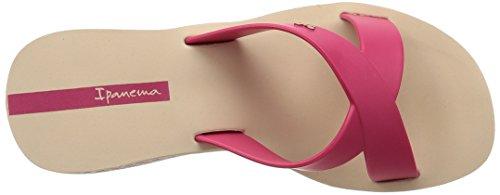 Ipanema Lipstick Straps Damen Zehentrenner Beige - Beige (90043 Beige/Pink)