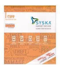 Syska Secure Gadget Plan 599 (Handset/Tablet Coverage Rs. 4000-9999)