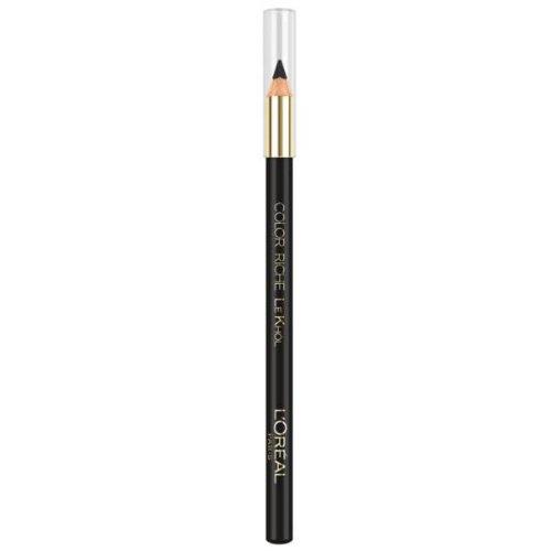 L'Oreal Color Riche Le Khôl Kajalstift für Augenpartie, Farbe 101Midnight Black (Schwarz)