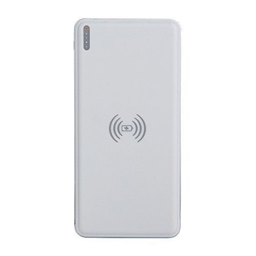 OverDose Tragbare USB Power Bank 8000mAh & Qi Drahtloses Ladegerät 2 in 1 Für Iphone X (White) Samsung Candy-bar
