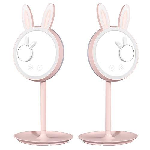 MISSMARCH alta calidad Espejo maquillaje LED Conejo