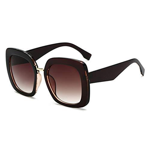 Taiyangcheng Yooske Übergroße Sonnenbrille Frauen 2019 Square Sonnenbrille Damen Luxusmarke Vintage Big Frame Sonnenbrille Weiblicher Trend Brillenübergroße Sonnenbrille Frauen Square Sonnenbrill