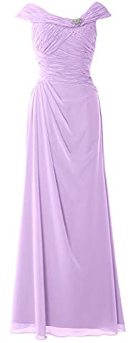 MACloth - Robe - Trapèze - Manches Courtes - Femme - violet - 60