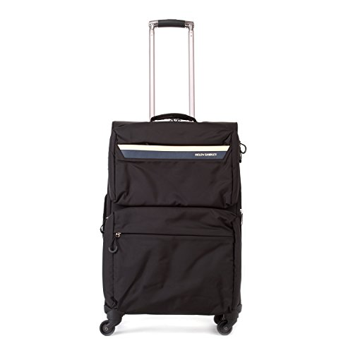 unisex-nylon-lightweight-durable-zipper-travel-spinner-luggage-suitcase-24in-black