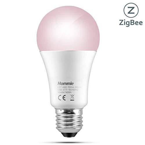 Angebot: Hommie LED Smart Glühlampe mit ZigBee 3.0 Dimmbar, Mehrfarbig E27 700LM 2200-6500K, Hub erforderlich, kompatibel für Amazon Echo Plus [Energieklasse A+] für nur 19,99 € statt bisher 24,99 € auf Amazon