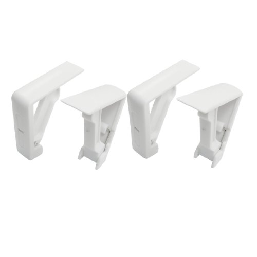 4 Pcs Tischdeckenklammern Tischtuch Klemme Klammer Clip Tischdeckenhalter weiß