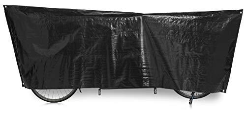 Fahrradschutzhülle Tandem VK; 110 x 300cm, schwarz, Inklusive Ösen