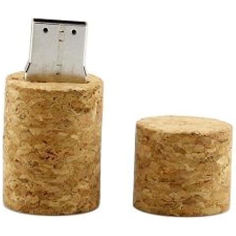 Enfain 8GB USB 2.0unidad flash con diseño de corcho de botella de vino tapón para botella de madera
